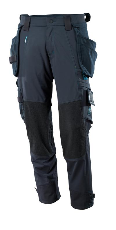 MASCOT® ADVANCED - donkermarine - Werkbroek met kniezakken met Dyneema® en afneembare spijkerzakken, 4 way stretch, lichtgewicht