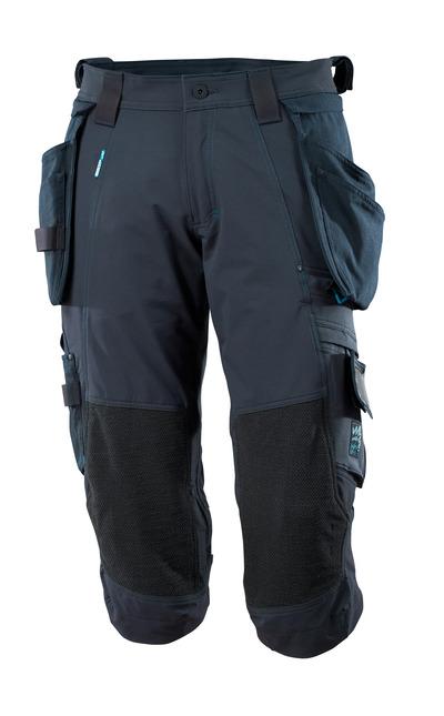 MASCOT® ADVANCED - donkermarine - Driekwart broek met kniezakken met Dyneema® en afneembare spijkerzakken, 4 way stretch, lichtgewicht