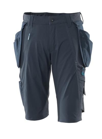 MASCOT® ADVANCED - donkermarine - Shorts met afneembare CORDURA®-spijkerzakken, 4 way stretch, lichtgewicht