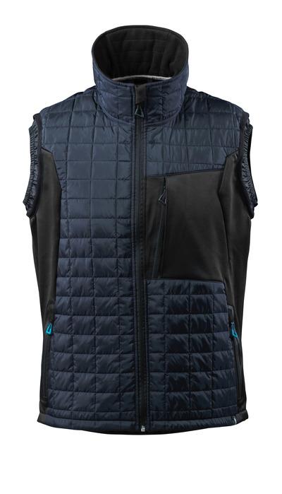 MASCOT® ADVANCED - donkermarine/zwart - Winterbodywarmer met CLIMASCOT®, lichtgewicht, waterafstotend