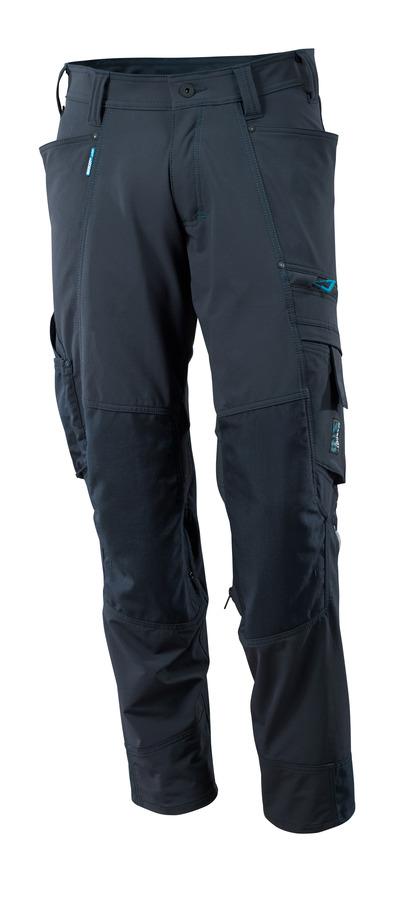 MASCOT® ADVANCED - donkermarine - Werkbroek met CORDURA® kniezakken, 4 way stretch, lichtgewicht