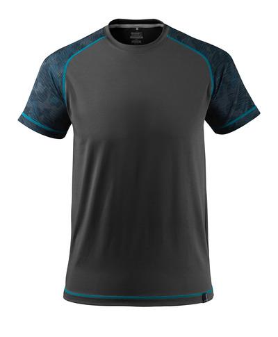 MASCOT® ADVANCED - zwart - T-shirt, vochtregulerend, moderne pasvorm