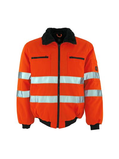 MASCOT® Alaska - hi-vis oranje - Pilotenjas met bontvoering, waterafstotend materiaal, klasse 3