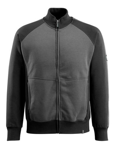 MASCOT® Amberg - donkerantraciet/zwart - Sweatshirt met rits, moderne pasvorm