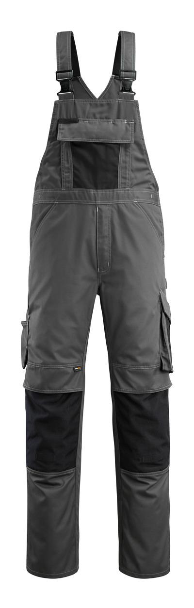 MASCOT® Augsburg - donkerantraciet/zwart - Amerikaanse overall met kniezakken, lichtgewicht