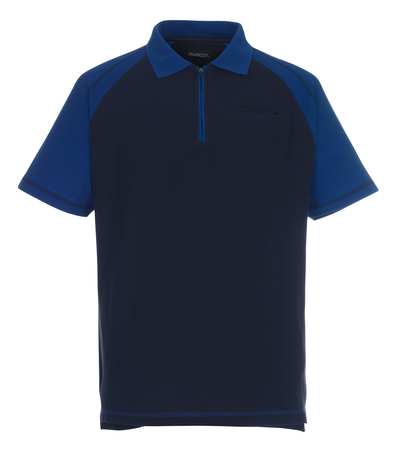 MASCOT® Bianco - marine/korenblauw - Poloshirt met rits, ruime pasvorm, borstzak