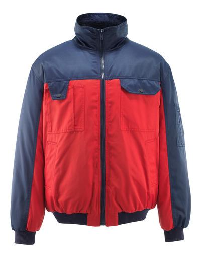 MASCOT® Bolzano - rood/marine - Pilotenjas met bontvoering, waterafstotend Bearnylon®