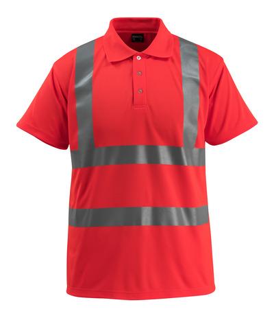 MASCOT® Bowen - hi-vis rood - Poloshirt, ruime pasvorm, klasse 2