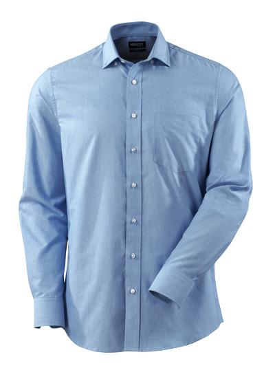 MASCOT® CROSSOVER - lichtblauw - Overhemd, Oxford, moderne pasvorm, lange mouwen.