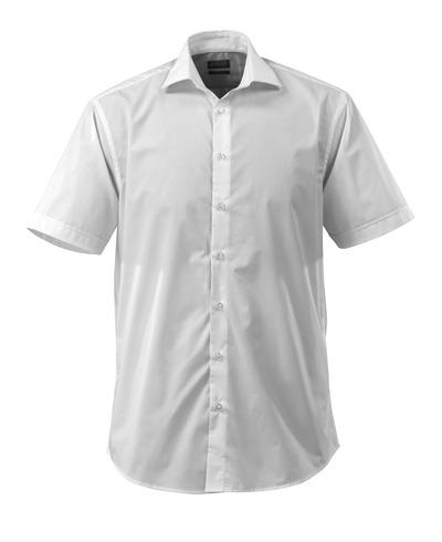 MASCOT® CROSSOVER - wit - Overhemd, met korte mouwen, popeline, ruime pasvorm