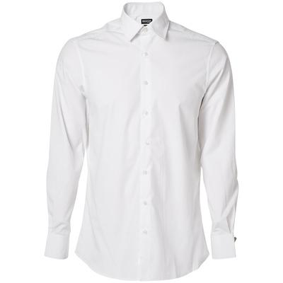 MASCOT® CROSSOVER - wit - Overhemd, popeline, moderne pasvorm