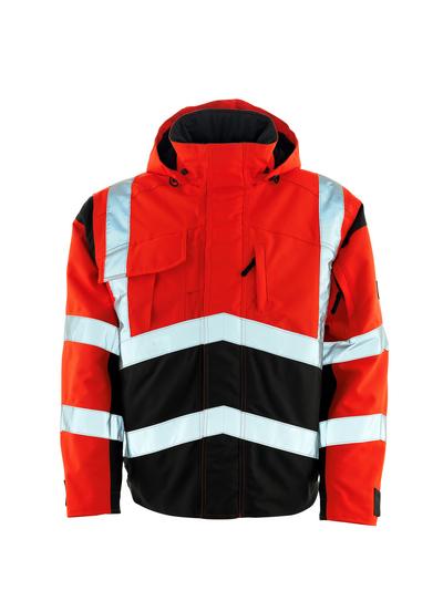 MASCOT® Camina - hi-vis rood/donkerantraciet - Pilotenjas met gewatteerde voering, waterdicht MASCOTEX®, klasse 2