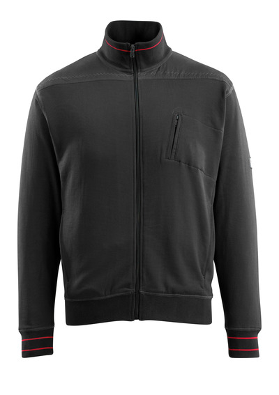 MASCOT® Chania - zwart - Sweatshirt met rits, moderne pasvorm