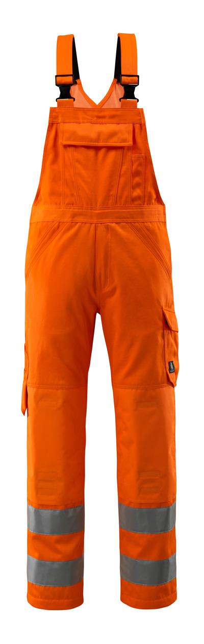 MASCOT® Devonport - hi-vis oranje - Amerikaanse overall met kniezakken, eenkleurig, klasse 2