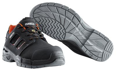 MASCOT® Diran - zwart/donkeroranje - Veiligheidsschoenen S3 met veters