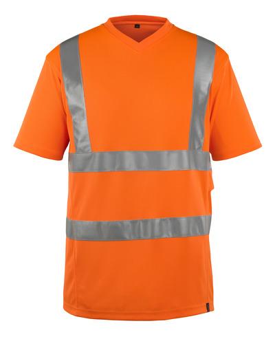 MASCOT® Espinosa - hi-vis oranje - T-shirt, V-hals, moderne pasvorm, klasse 2
