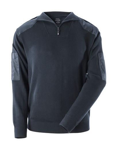 MASCOT® FRONTLINE - donkermarine - Gebreide trui met versterkingen, met wol