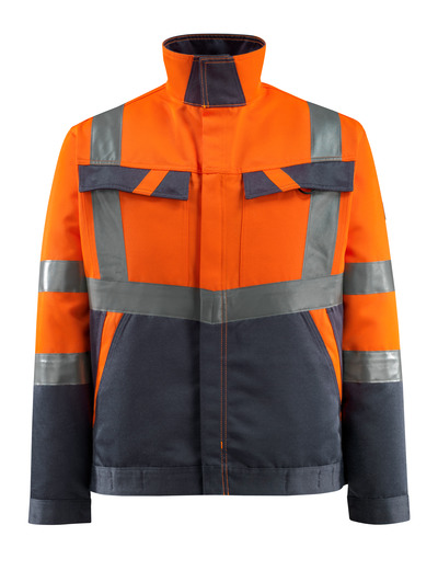 MASCOT® Forster - hi-vis oranje/donkermarine - Jack, lichtgewicht, klasse 2