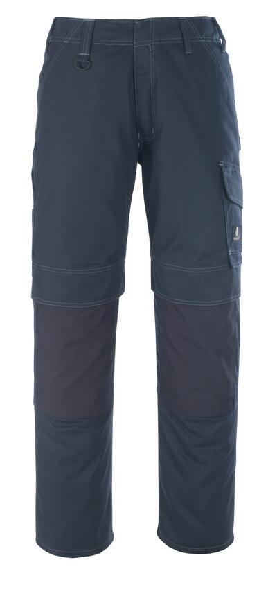 MASCOT® Houston - donkermarine - Werkbroek met kniezakken, lichtgewicht