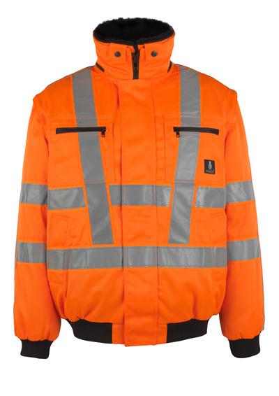 MASCOT® Innsbruck - hi-vis oranje - Pilotenjas met uitneembare bontvoering, waterafstotend, klasse 3