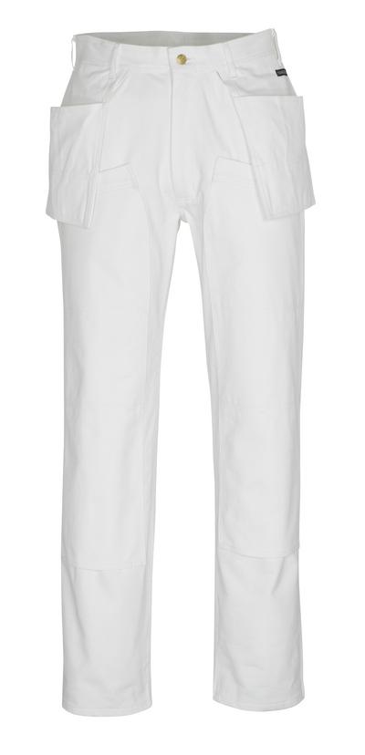 MASCOT® Jackson - wit* - Broek met knie- en spijkerzakken