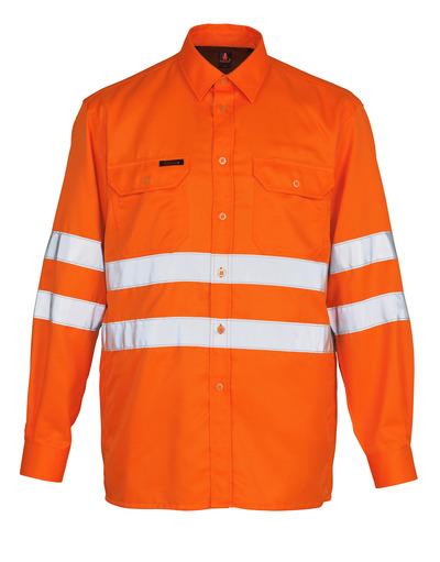 MASCOT® Jona - hi-vis oranje - Overhemd, ruime pasvorm, klasse 3