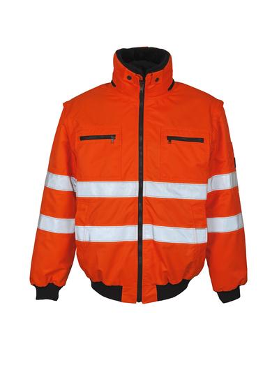 MASCOT® Kaprun - hi-vis oranje - Pilotenjas met uitneembare bontvoering, waterafstotend, klasse 3