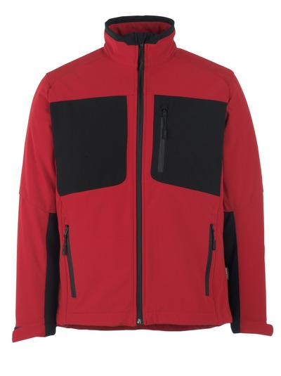 MASCOT® Lagos - signaalrood/zwart* - Softshelljack met fleece aan de binnenkant, waterafstotend materiaal