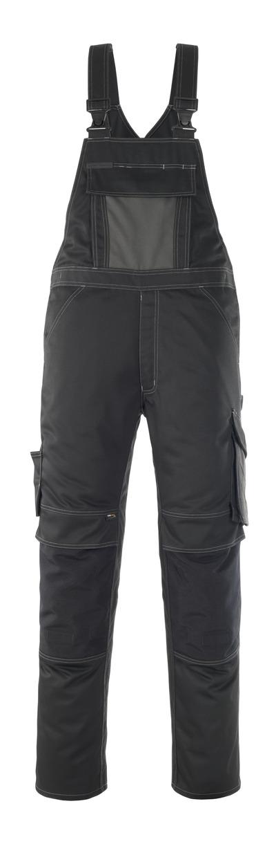 MASCOT® Leipzig - zwart/donkerantraciet - Amerikaanse overall met kniezakken, hoge slijtvastheid