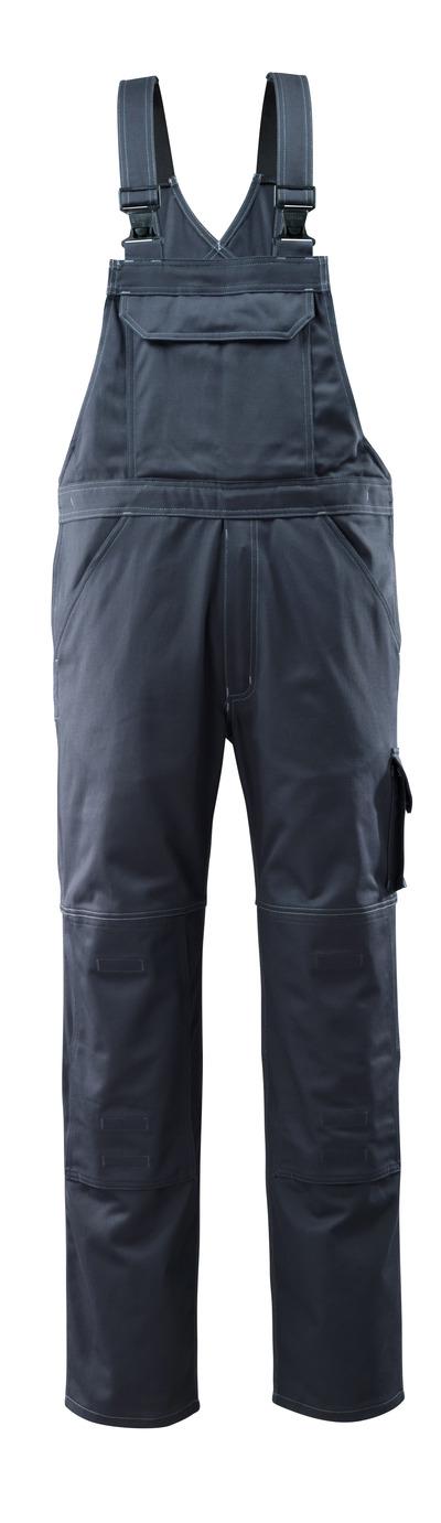 MASCOT® Lowell - donkermarine - Amerikaanse overall met kniezakken, katoen