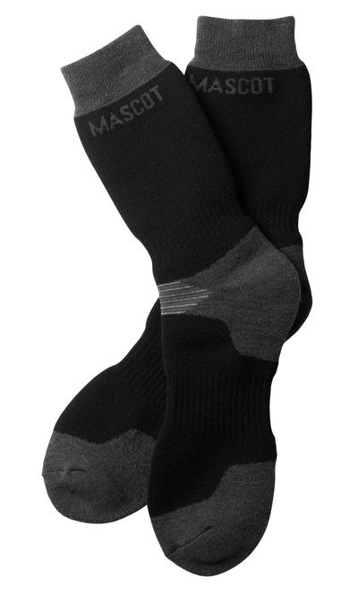 MASCOT® Lubango - zwart/donkerantraciet - Sokken, lange stijl, zweettransporterend