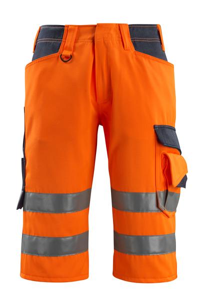 MASCOT® Luton - hi-vis oranje/donkermarine - Driekwart broek, klasse 1