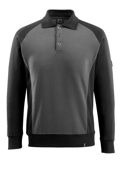 MASCOT® Magdeburg - donkerantraciet/zwart - Polosweatshirt, moderne pasvorm