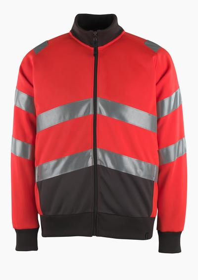 MASCOT® Maia - hi-vis rood/donkerantraciet* - Sweatshirt met rits, moderne pasvorm, klasse 2