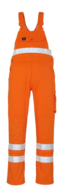 MASCOT® Maine - hi-vis oranje* - Amerikaanse overall met kniezakken, klasse 2/2