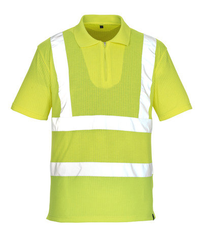 MASCOT® Melville - hi-vis geel* - Poloshirt met rits, ruime pasvorm, klasse 2/2