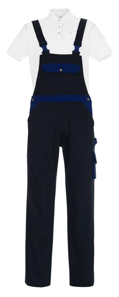 MASCOT® Monza - marine/korenblauw - Amerikaanse overall met kniezakken, katoen