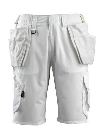 MASCOT® Olot - wit - Shorts met CORDURA®-spijkerzakken en stretch-panelen