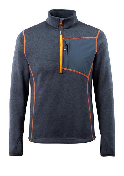 MASCOT® Reims - donkermarine - Gebreide trui met korte rits