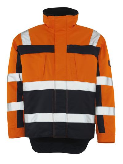 MASCOT® Teresina - hi-vis oranje/marine - Winterjack met bontvoering, waterdicht, klasse 3