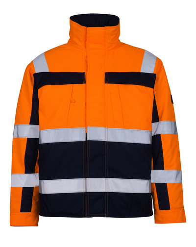 MASCOT® Timon - hi-vis oranje/marine* - Pilotenjas met gewatteerde voering, klasse 3
