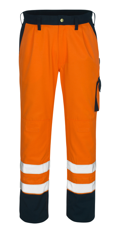 MASCOT® Torino - hi-vis oranje/marine* - Werkbroek met kniezakken, klasse 1/2