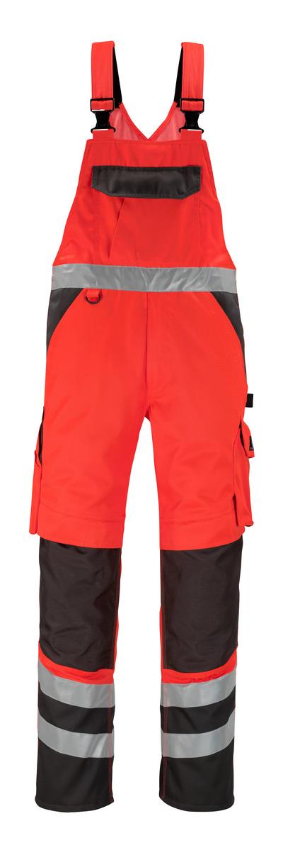 MASCOT® Trofa - hi-vis rood/donkerantraciet* - Amerikaanse overall met kniezakken