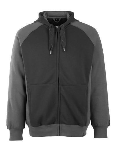 MASCOT® Wiesbaden - zwart/donkerantraciet - Hooded sweatshirt