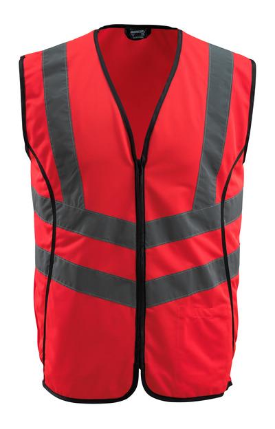 MASCOT® Wingate - hi-vis rood - Veiligheidshesje met rits, klasse 2