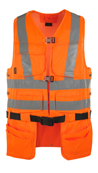 MASCOT® Yorkton - hi-vis oranje - Gereedschapsvest met vier spijkerzakken, klasse 2/2